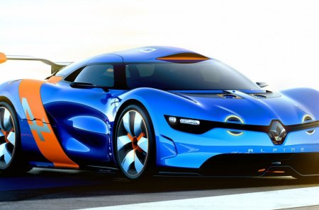 RENAULT ALPINE Concept - Photoshop, Motor, Renault, Sport, French, Beauty, Car, Blue, Formula 1