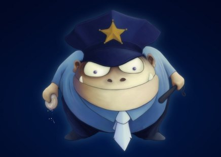 Police officer - police, fun, funny, cg