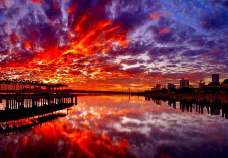 Dramatic sunset sunsets nature background wallpapers on desktop nexus image 1442075 - Dramatic wallpaper ...