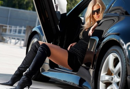 Hot Babe Hot Car - babe and car, Hot Babe Hot Car, woman and car, hot blonde hot car, sexy woman and car, blonde and car