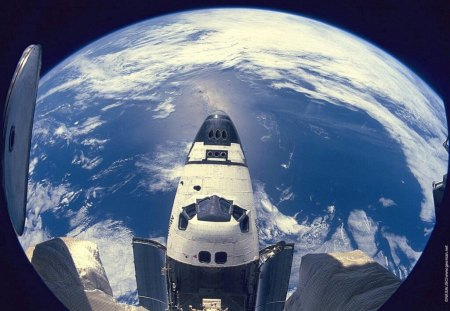 Space Flight - space station, Space Flight, space shuttle, earth from space