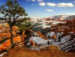 beautiful bryce canyon in winter