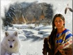 Native and a Wolf
