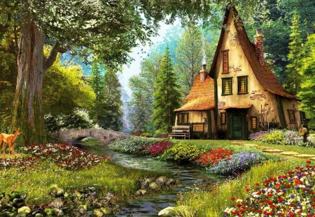 Forest Cottage Other Abstract Background Wallpapers On Desktop Nexus Image 1446160