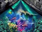 Under Water Street Art Aquarium
