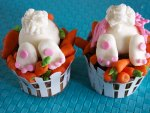 Easter funny cupcakes
