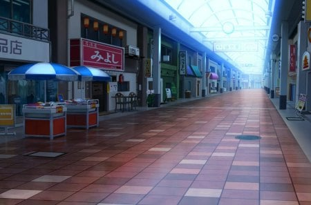 Shopping Center - shop, hd, house, scenic, cg, stall, beautiful, supermarket, building, nice, 3d, anime, beauty, scenery, realistic, scene