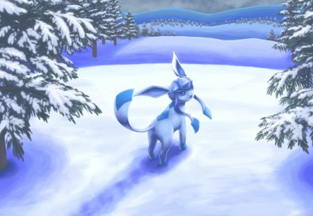 Pokemon - Forest, Anime, Cold, Manga, Glaceon, Ice, Sweet, Cute, Game, Pokemon, Gaming, Snow
