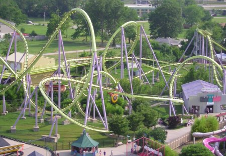 six flags - six, flags, rides, thrill, coasters