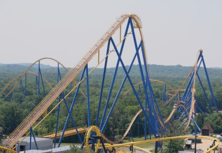 roller coaster - thrill, rides, coasters, roller