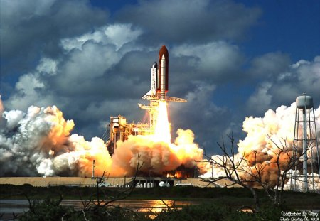 Space Shuttle Launch 1600x1200 - SpaceExploration, SpaceShuttle, NASA, Orbit, Rockets