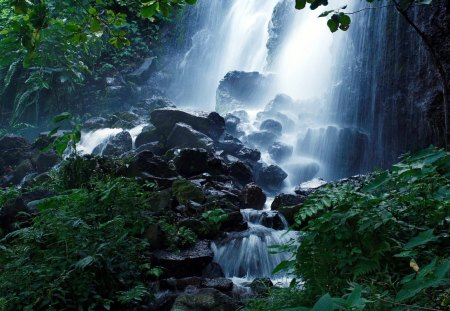 Scenic forest falls waterfalls nature background - Waterfalls desktop wallpaper forest falls ...