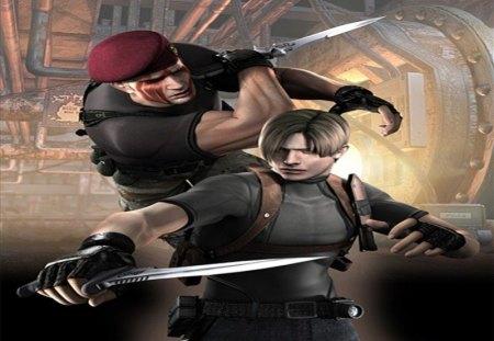 Krauser Vs Leon Resident Evil Video Games Background