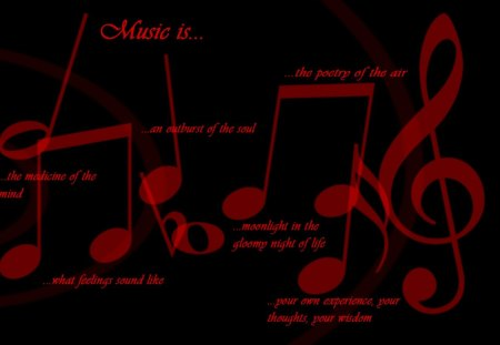Red Text Quotes Music Black