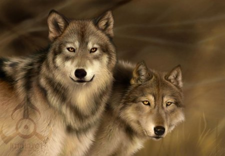 spirits of the wild watching over us - majestic, beautifull, wolves, spirits