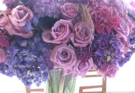 spring flowers - beautifully, flowers, spring, purple bouquet, pink