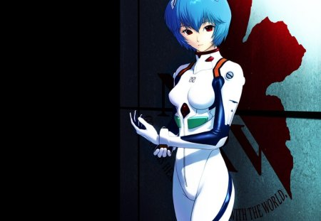 Ayanami Rei - hd, rei, anime, neon, hot, anime girl, female, rei ayanami, genesis, ayanami, ayanami rei, bodysuit, sexy, evangelion, short hair, cute, neon genesis evangelion, girl, blue hair, eva, dark, red eyes
