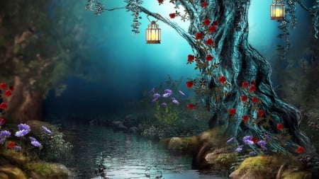 fantasy forest 3d and cg abstract background wallpapers on