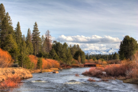 Recovery - Carson River, Nevada, sky, clouds, Northern Nevada, Water, Landscape, Beauty, mountains, canon, Recovery, movement, nature, Pinetrees