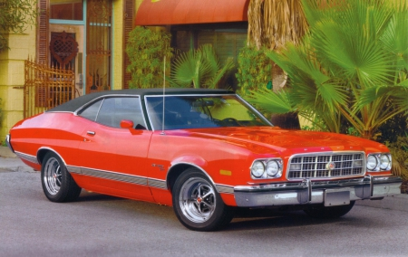 1973 Ford Gran Torino Ford Cars Background Wallpapers On