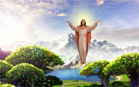 Jesus To The Heaven Collages Abstract Background Wallpapers On