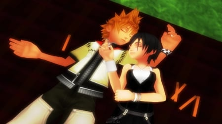 roxas&xion lazy afternoon - xion, afternoon, lazy, roxas, kingdom, hearts