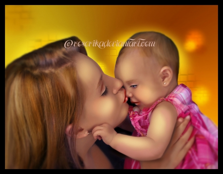 ✫Unconditional Love✫ - unconditional, pretty, beautiful, adorable, digital art, mother, Mothers Day, women, photomanipulation, emotional, people, love, child, female, lovely, mom, baby, bond, warmth, hugs, kisses, tender touch