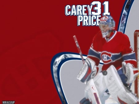 Montreal Canadiens Carey Price Wallpaper Hockey Sports