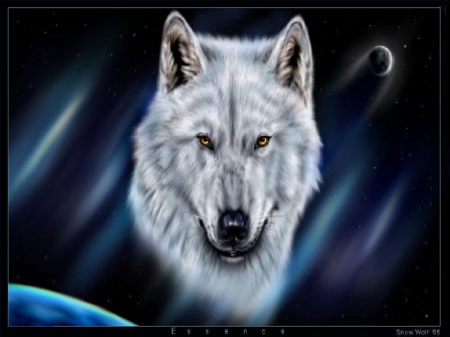 Essence - fantasy, wolf, abstract, animal