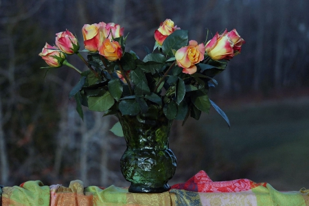 Roses - still life, decoration, flowers, nature, roses