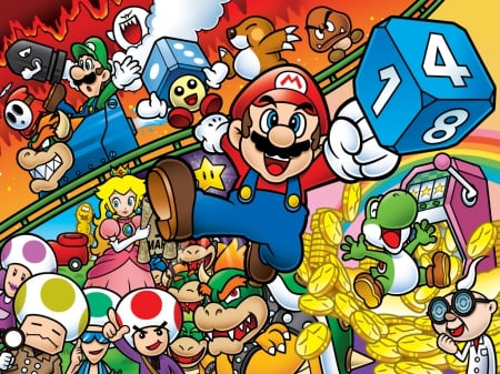 It S A Mario Party Time Mario Amp Video Games Background
