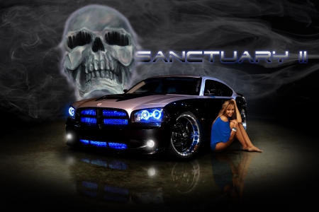 Poster Hot Babe Girls And Cars Cars Background