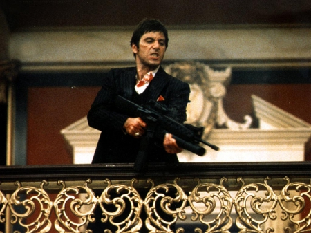 Scarface - say hello to my little friend, gangster, al pacino, Scarface