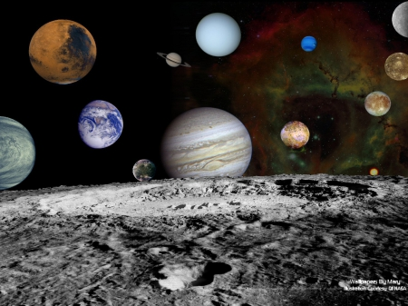 Voyagers Solar System Montage 1600x1200 - Space Travel, Orbit, Space, Planets, Voyager