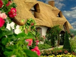 flower garden cottage