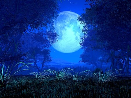 Full moon - moon, nature