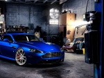aston martin v8 vantage adv1 in a garage