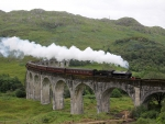 """The Jacobite"" 62005 over Glenfinnan Viaduct"