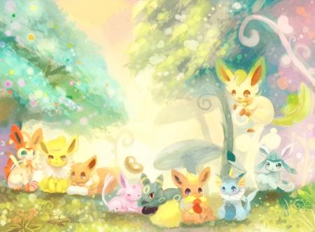 Pokemon Eevee Evolutions Pokemon Anime Background Wallpapers On