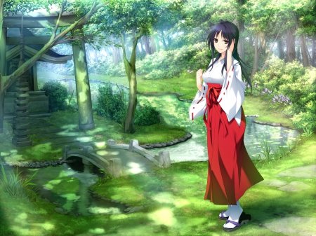 Shrine Maiden Other Amp Anime Background Wallpapers On