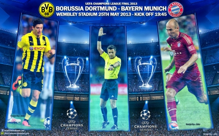 Champions League Final 2013 - bvb, robben, Champions League wallpaper, bayern munchen wallpaper, champions league final, puma, Borussia Dortmund wallpaper, ayern, Robert Lewandowski, Dortmund, champions league, adidas, Borussia Dortmund