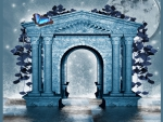 ✼Blue Arch with Butterfly✼