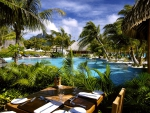 St Regis Bora Bora Breakfast View at the pool
