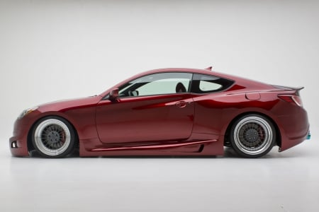 Hyundai Genesis Coupe Turbo - red, turbo, coupe, genesis, car, hyundai, tuning