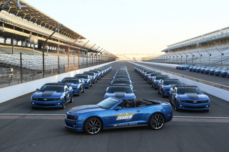 Indianapolis 500 Chevrolet 2013  Camaros - Pace Car, Indy, GM, Blue