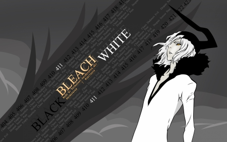 bleach - bleach, tensa, anime, black, zangetsu, hollow, white