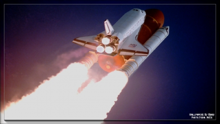 Atlantis Blasting Off 1600x900 - Shuttle, Rockets, SpaceShuttle, Orbit, Space, NASA