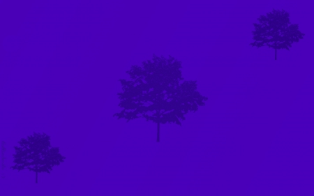 Purple Three Tree Wall - red, orange, scarlet, golden, silhouettes, yellow, trees, silhouette, tree, gold, green, simp1e, purp1e, aquamarine, violet, blue