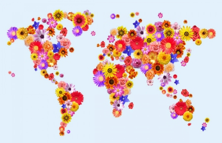 Flower world map other abstract background wallpapers on desktop flower world map gumiabroncs Gallery