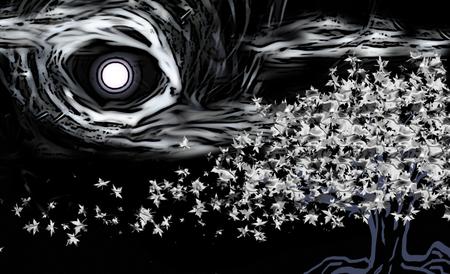Tsukoyomy japan sumi e art